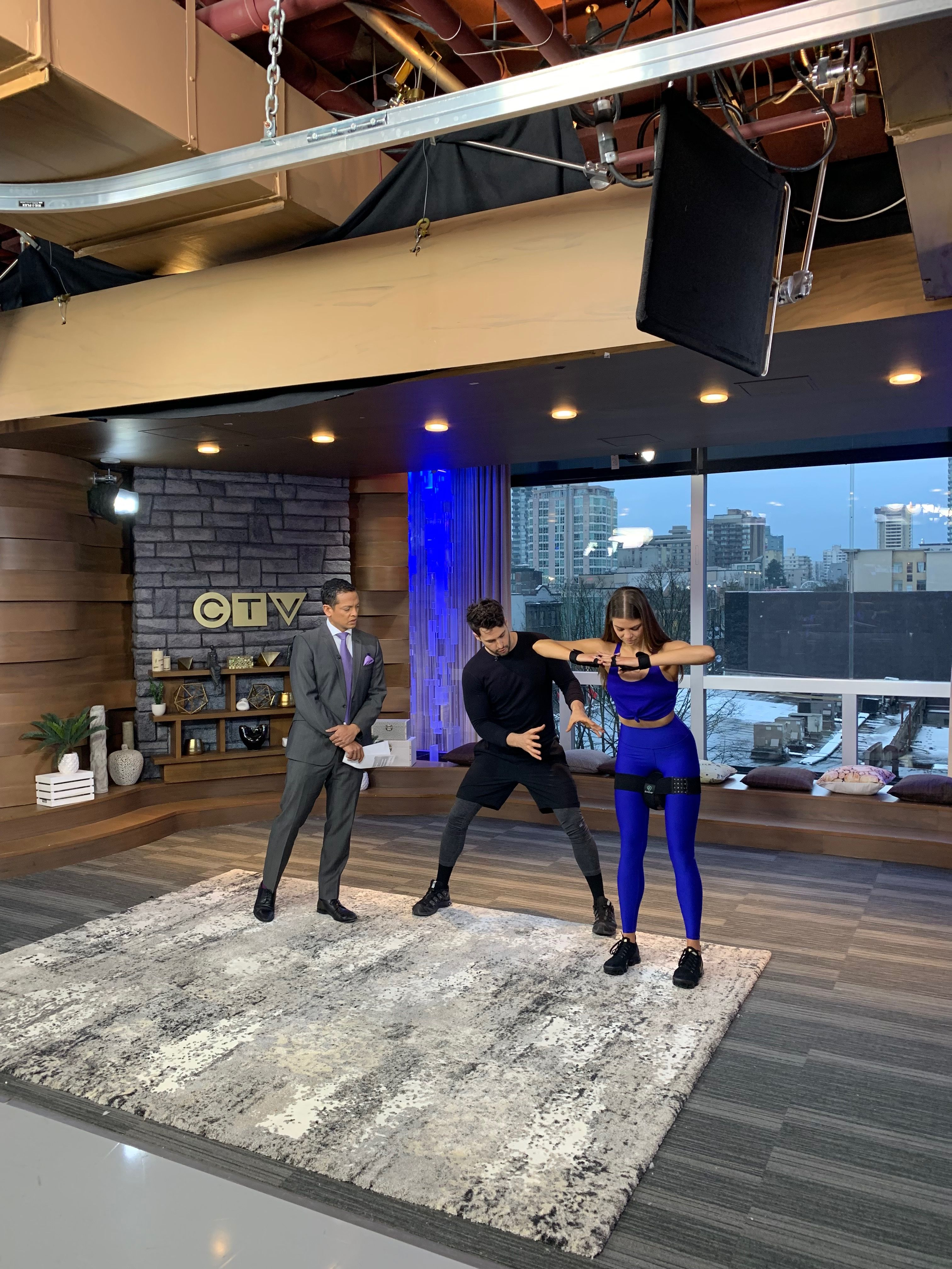 P  on CTV News showing Vancouver how to p sit  | P in action