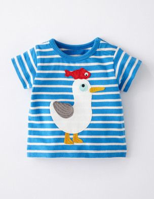 Seaside T Shirt Snowdrop Blue Seagull Kinder Klamotten Baby Outfit Junge Kind Mode