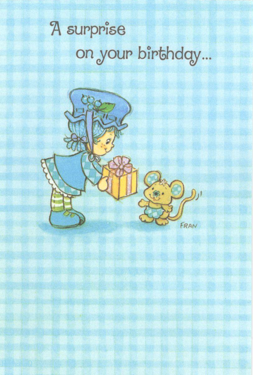 Vintage kenner american greetings strawberry shortcake greeting vintage kenner american greetings strawberry shortcake greeting card blueberry muffin cheesecake mouse birthday kristyandbryce Images
