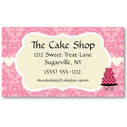 cake shop baker bakery business cards maggiemart pinterest