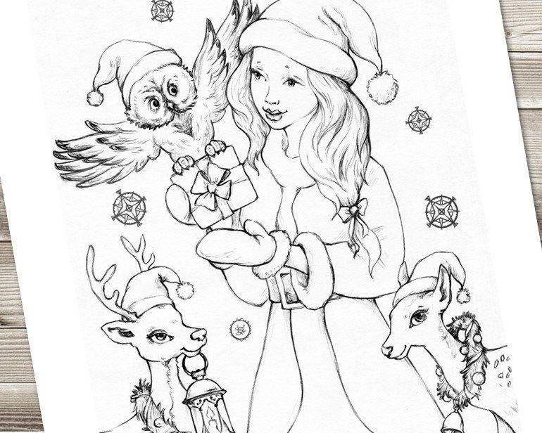 Snow Princess - Coloring Page | FabrikaFantasy.com ...