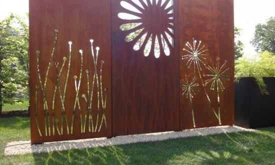 windschutz google suche zaun sichtschutz sichtschutz cortenstahl metallzaun sichtschutzwand garten