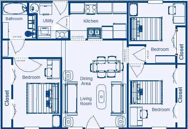 3 Bedroom Home Plans Designs House Floor Plan Designer  3 Bedroom Plan Layout Simple 3 Bedroom