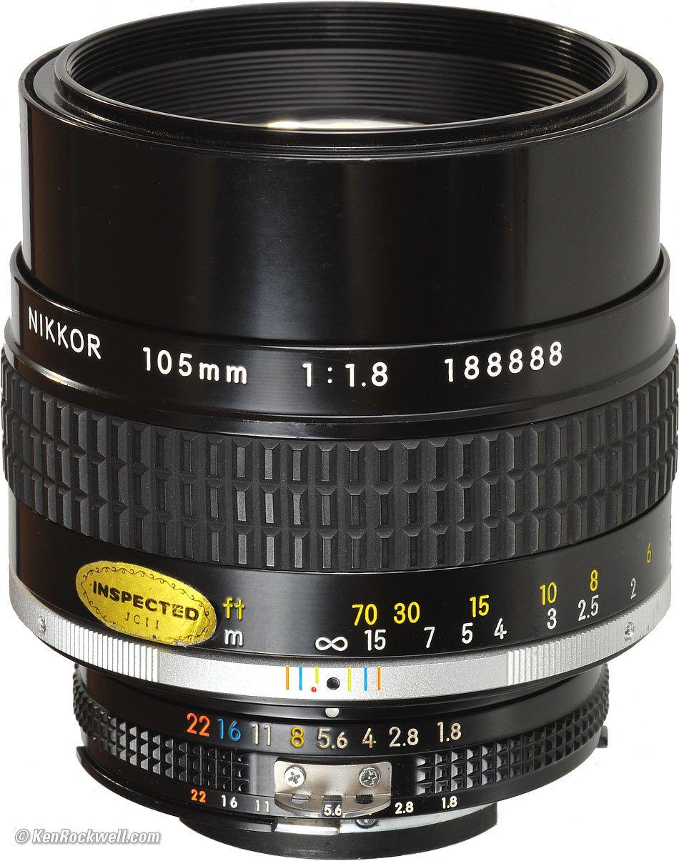 Nikon 105mm F 1 8 A Manual Focus Lens Camera Nikon Nikon Lenses Camera