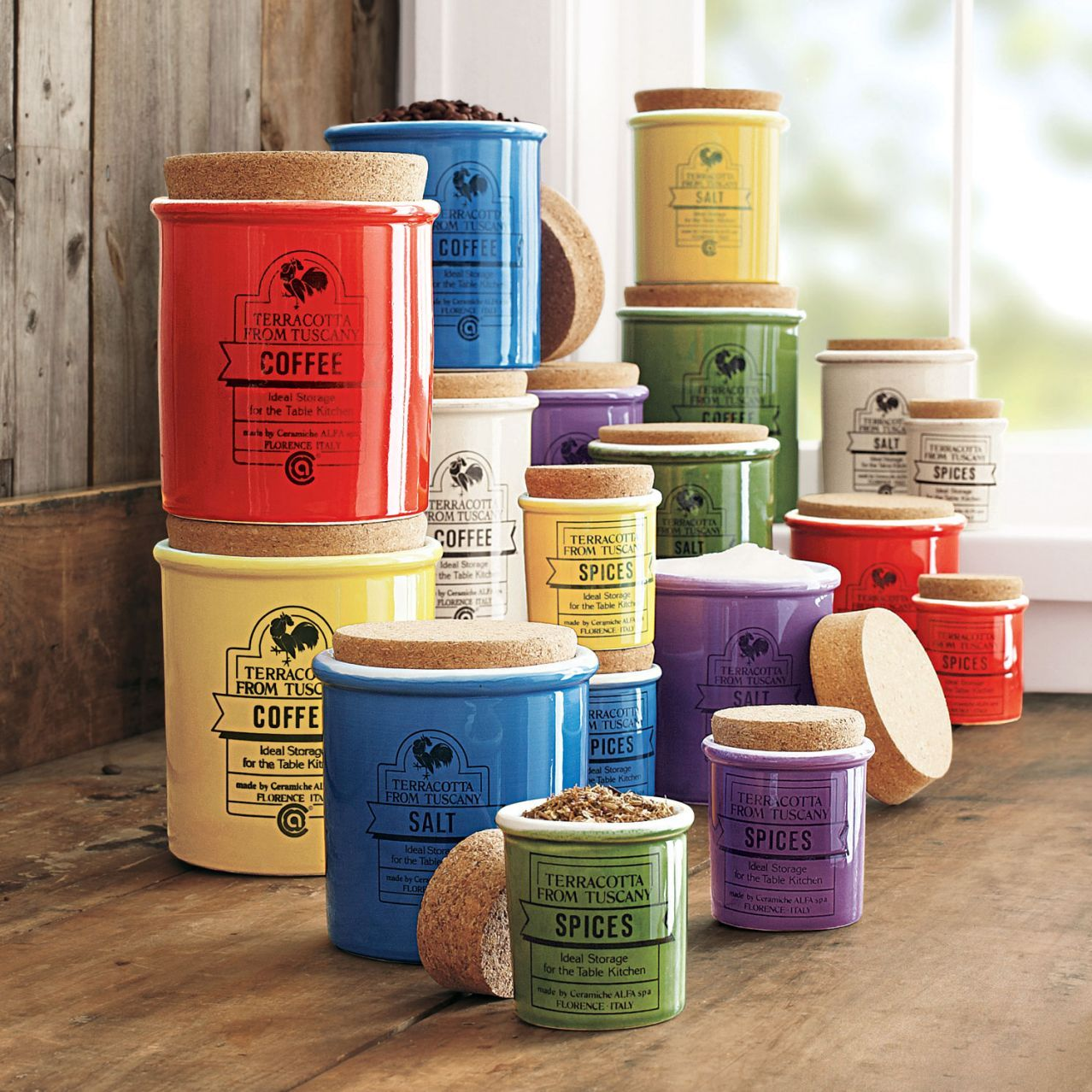 Delightful Love Ceramic Spice Jars   Sur La Table!