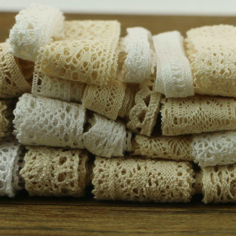 10 ياردة 10 سلسلة من الملابس الخياطة النسيج Dyi القطن الكروشيه الدانتيل الشريط الحلي Sewing Fabric Ribbon Ornaments Lace Ribbon
