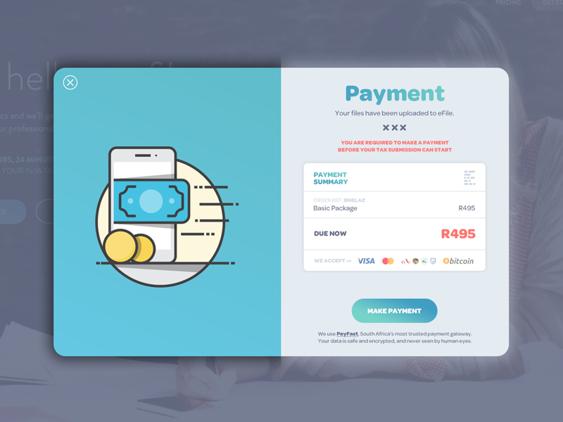 eFile Payment Screen