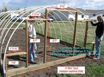How To Build An Inexpensive Hoop Style Greenhouse Sustainable Life Style Pinterest Gardens Green Houses And Homesteads