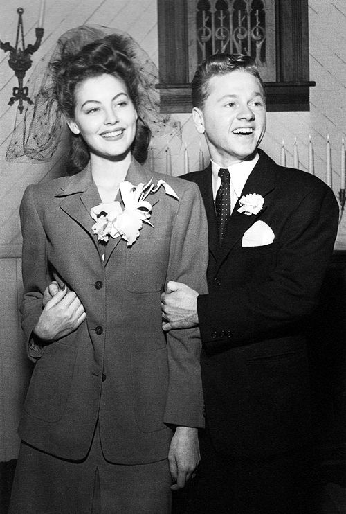 A 19 Year Old Ava Gardner Mickey Rooney On Their Wedding Day 1942