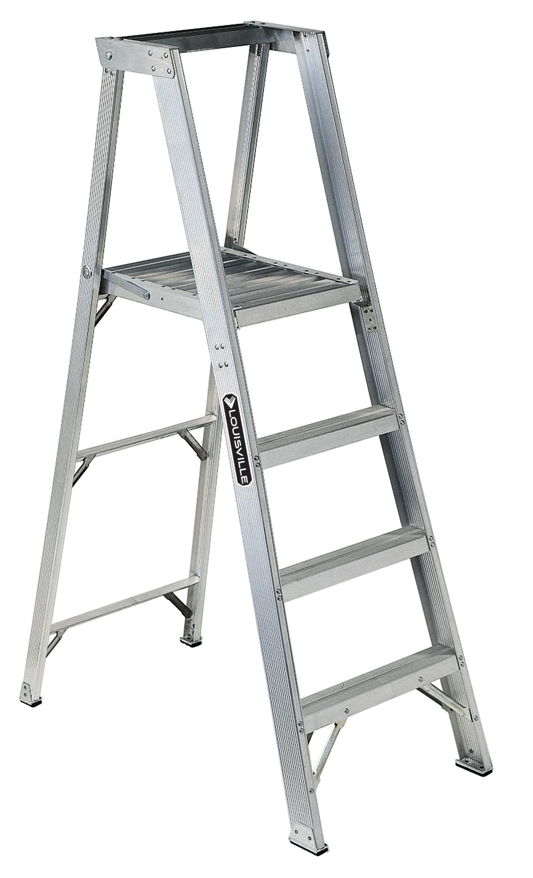 These Lightweight Aluminum Industrial Platform Ladders Have A 375 Lb Duty Rating And Are Designed With Extra Heavy Duty S Sillas De Madera Escaleras De Madera