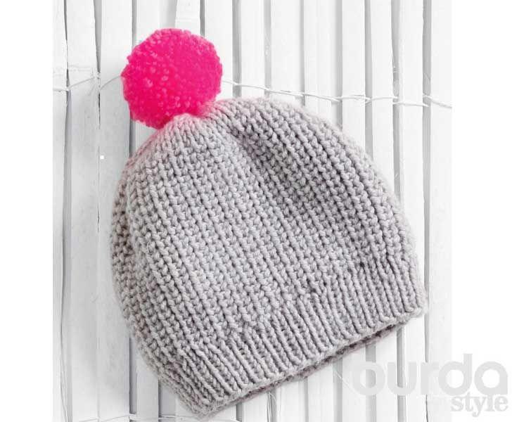Детская шапочка спицами схема фото 487