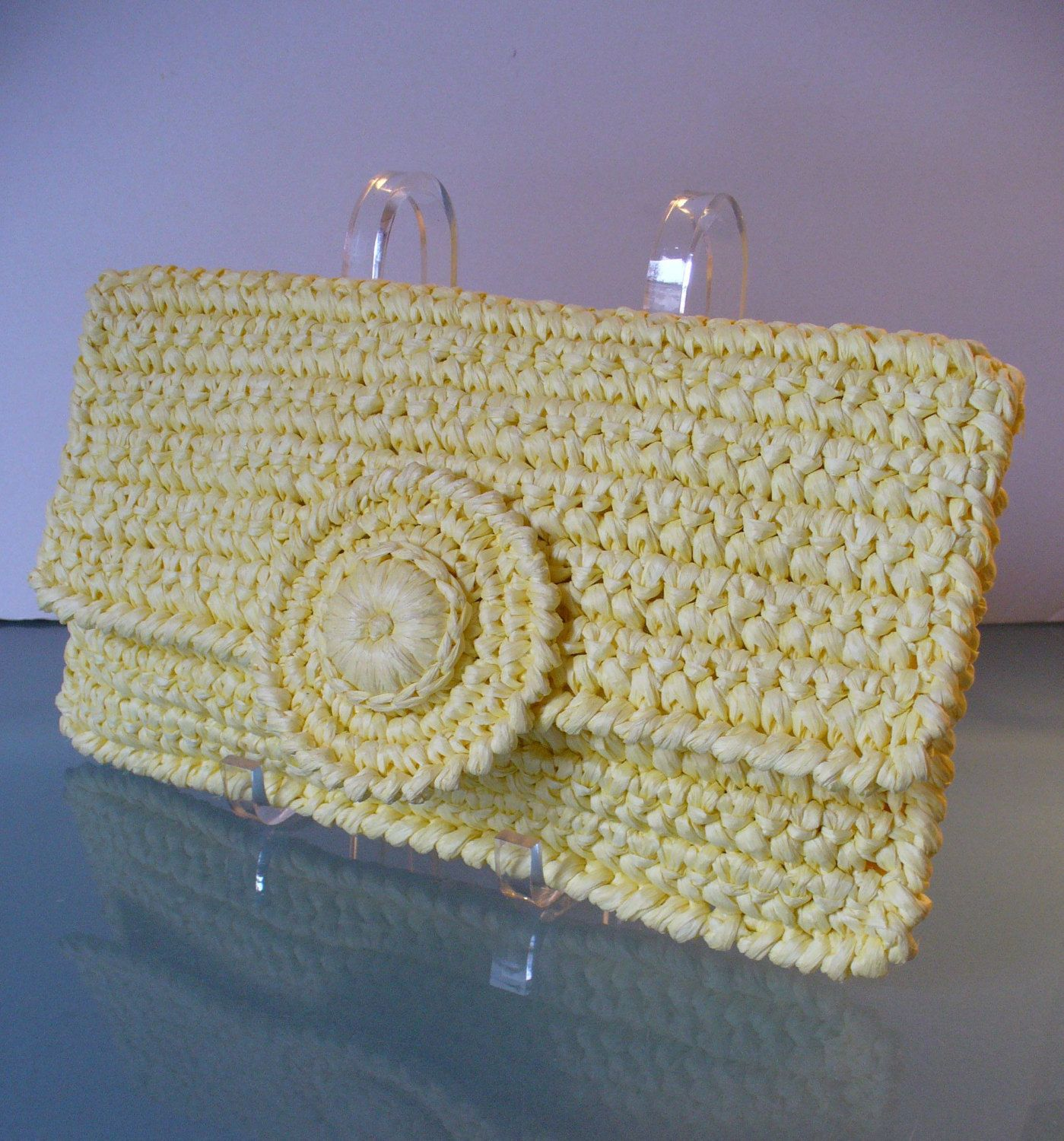 Made in italy large crochet raffia clutch bag by eurotrashitaly on made in italy large crochet raffia clutch bag by eurotrashitaly on etsy bankloansurffo Gallery
