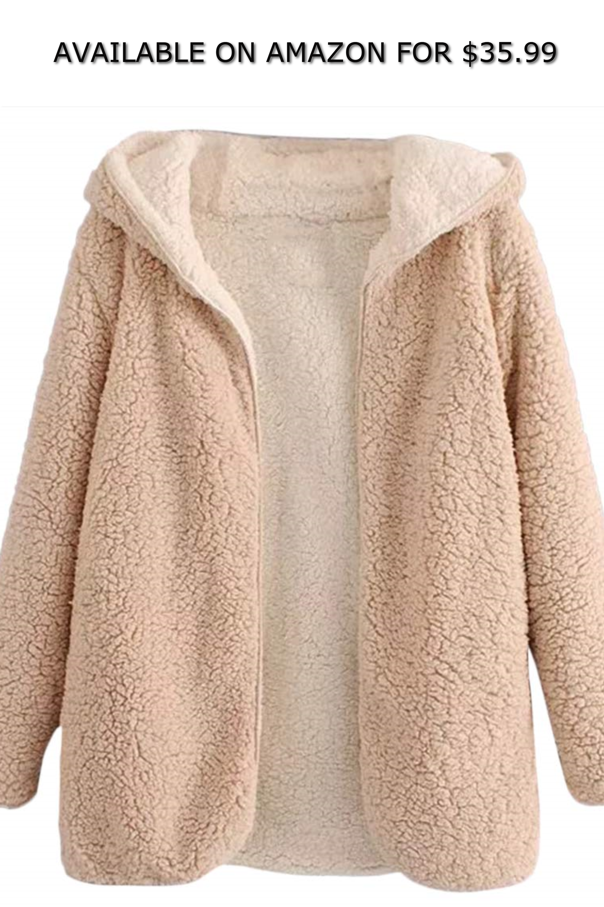 picked up promotion official images BeautyGal Women's Reversible Open Front Coat Lamb Wool ...