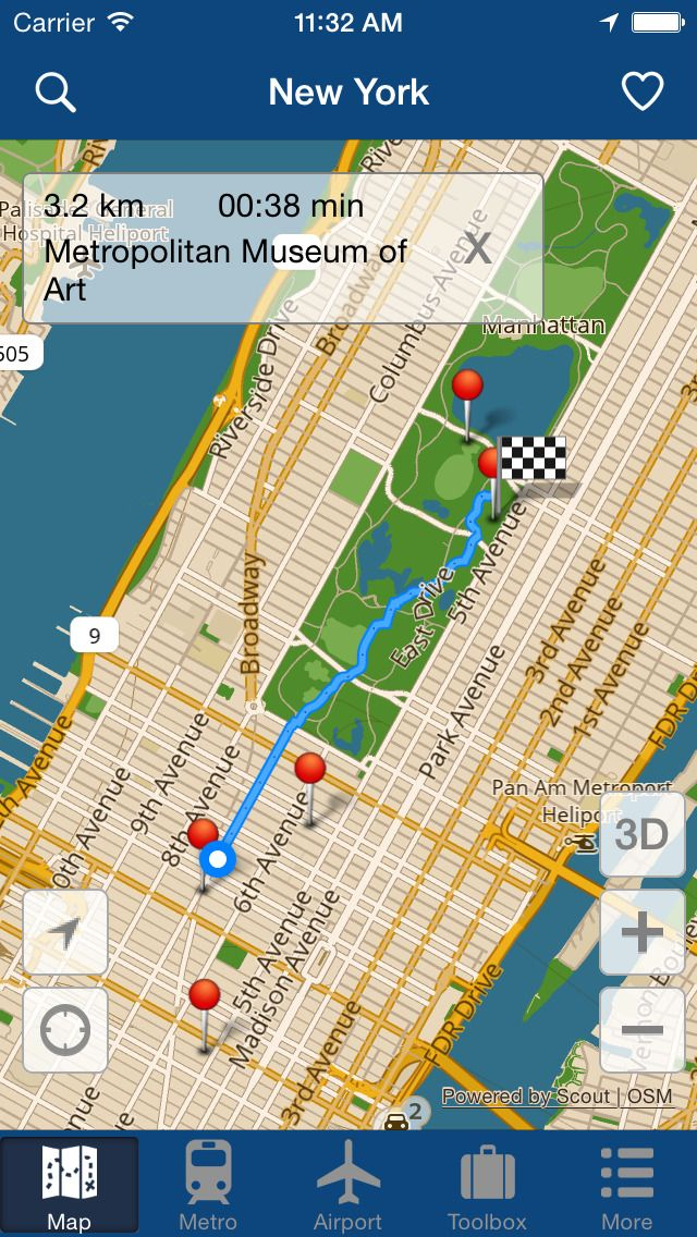 Iphone Map Of New York Offline.Iphone App New York Offline Map City Metro Airport With Travel
