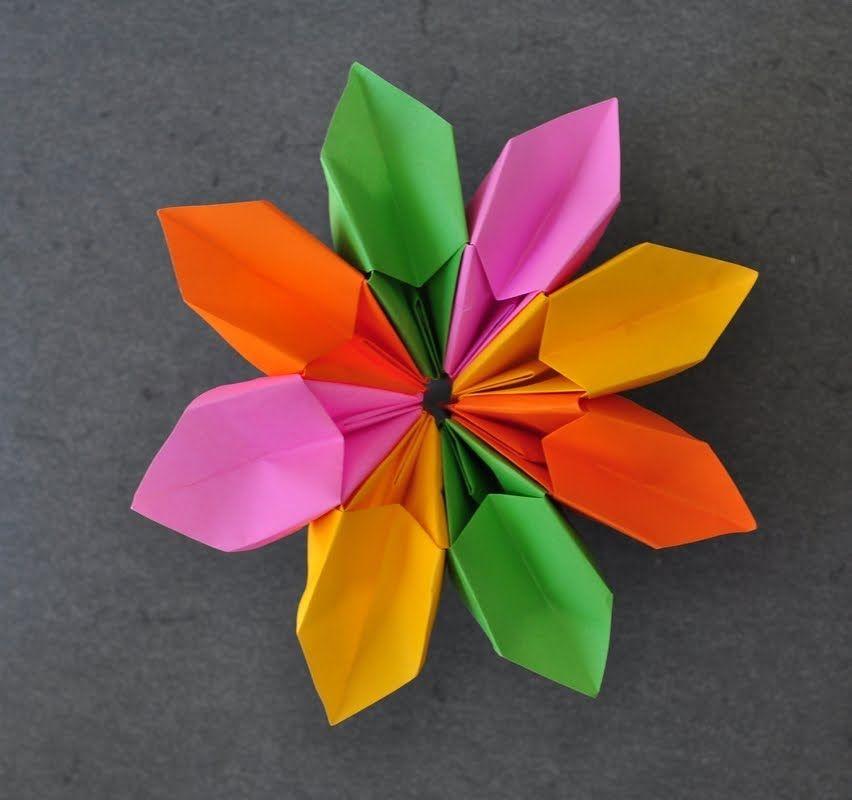 Origami how to fold a magic flower lejtszsi lista origami origami maniacs origami magic flower by ilan garibi mightylinksfo Image collections