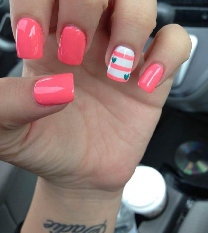 Cool Ways To Do Your Nails Nail Art Ideas Heart Nails Heart Nail Designs Creative Nails