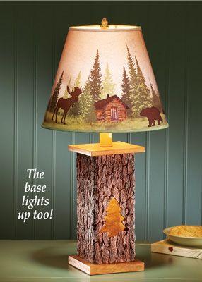 Tree Trunk Lamp Unique Table Lamps