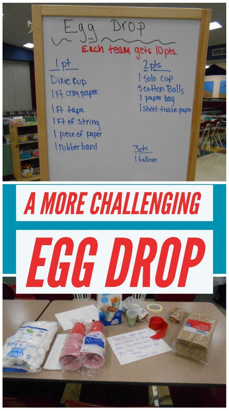 Limited Egg Drop Challenge Summer school activities