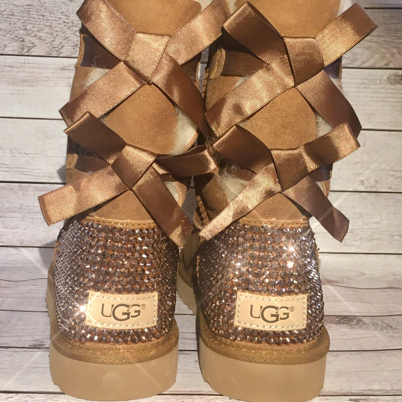 bling bailey bow uggs - custom ugg boots - crystal ugg boots -bling uggs - c25f13b10
