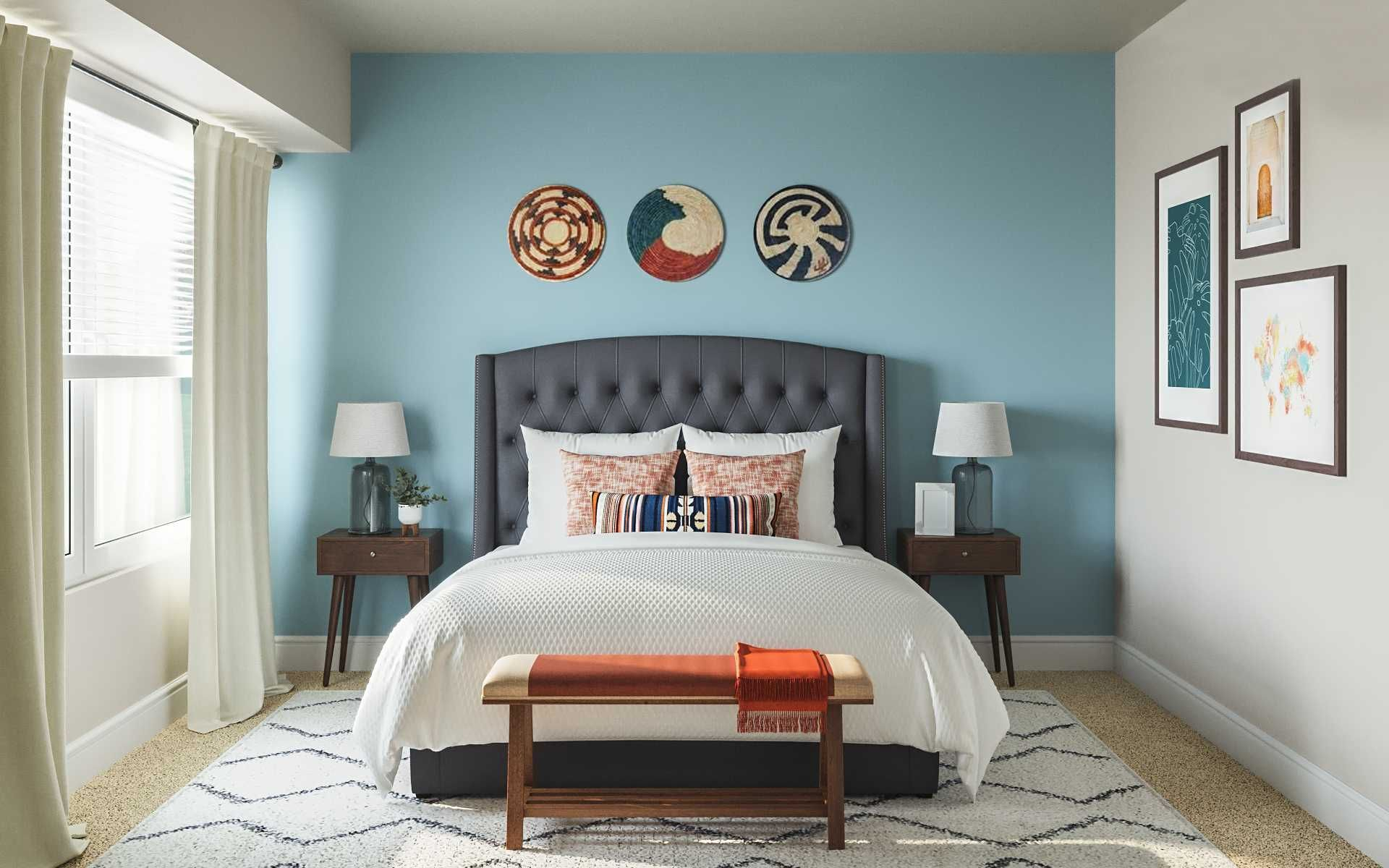 Bohemian Rustic Bedroom Design By Havenly Interior Designer Fendy Bedroom Design Rustic Bedroom Design Interior Design
