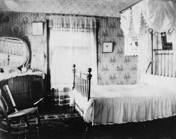 1900 Home Interiors | title object name bedroom view creator unknown ...