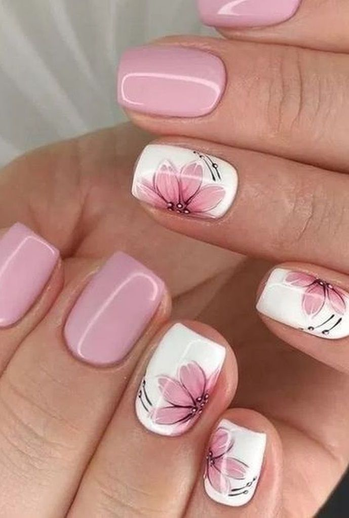25 Best Holiday Nail Art Design Ideas In 2020 Pink Nail Art Flower Nail Art Square Nail Designs