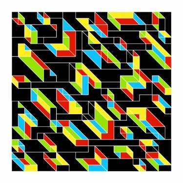 "Saatchi Art Artist Andrew Reach; Printmaking, ""Solid Ambiguities - Edition of 3"" #art"