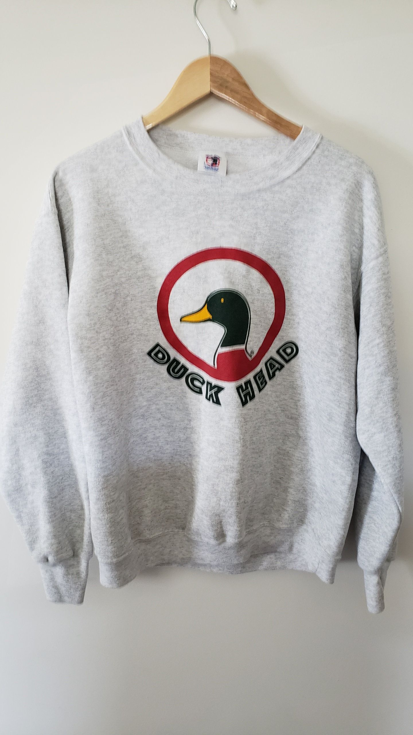 edb770c15 Vintage 90's Duck Head Tail Two Sided Crewneck Sweatshirt - Size Large Prep  Trendy Old School Classic Throwback Retro by RackRaidersVtg on Etsy