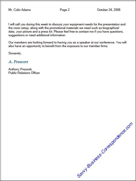 format multiple page letter properly use letterhead when business - business letters