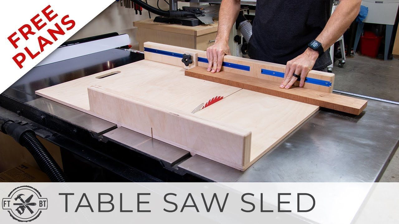 Simple Table Saw Sled with FREE Plans DIY Woodworking