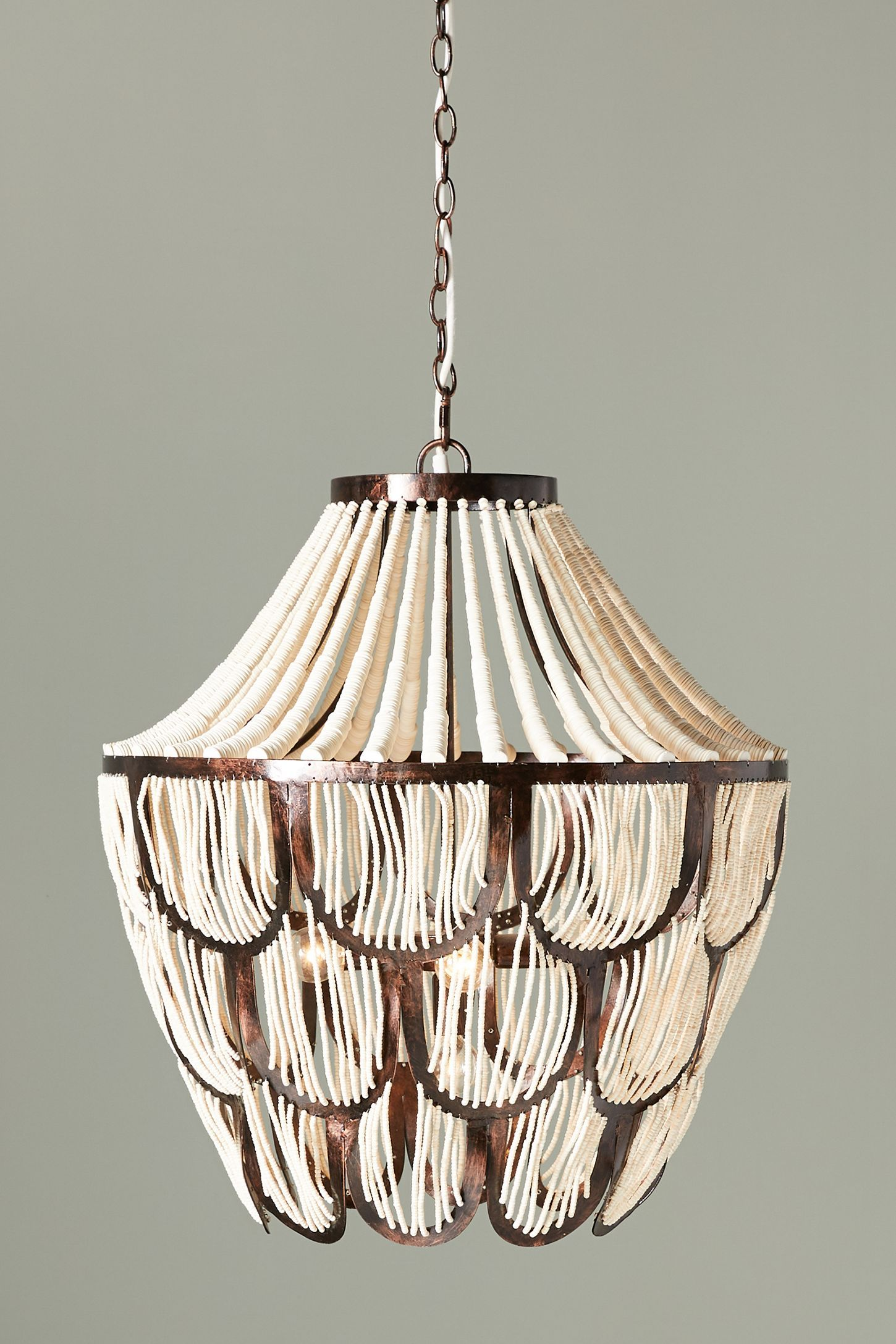 Imarni chandelier anthropologie wood bead chandelier chandeliers electrical outlets foyer lighting