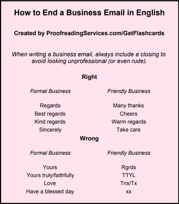 How To End A Business Email In English Business Emails Email Business