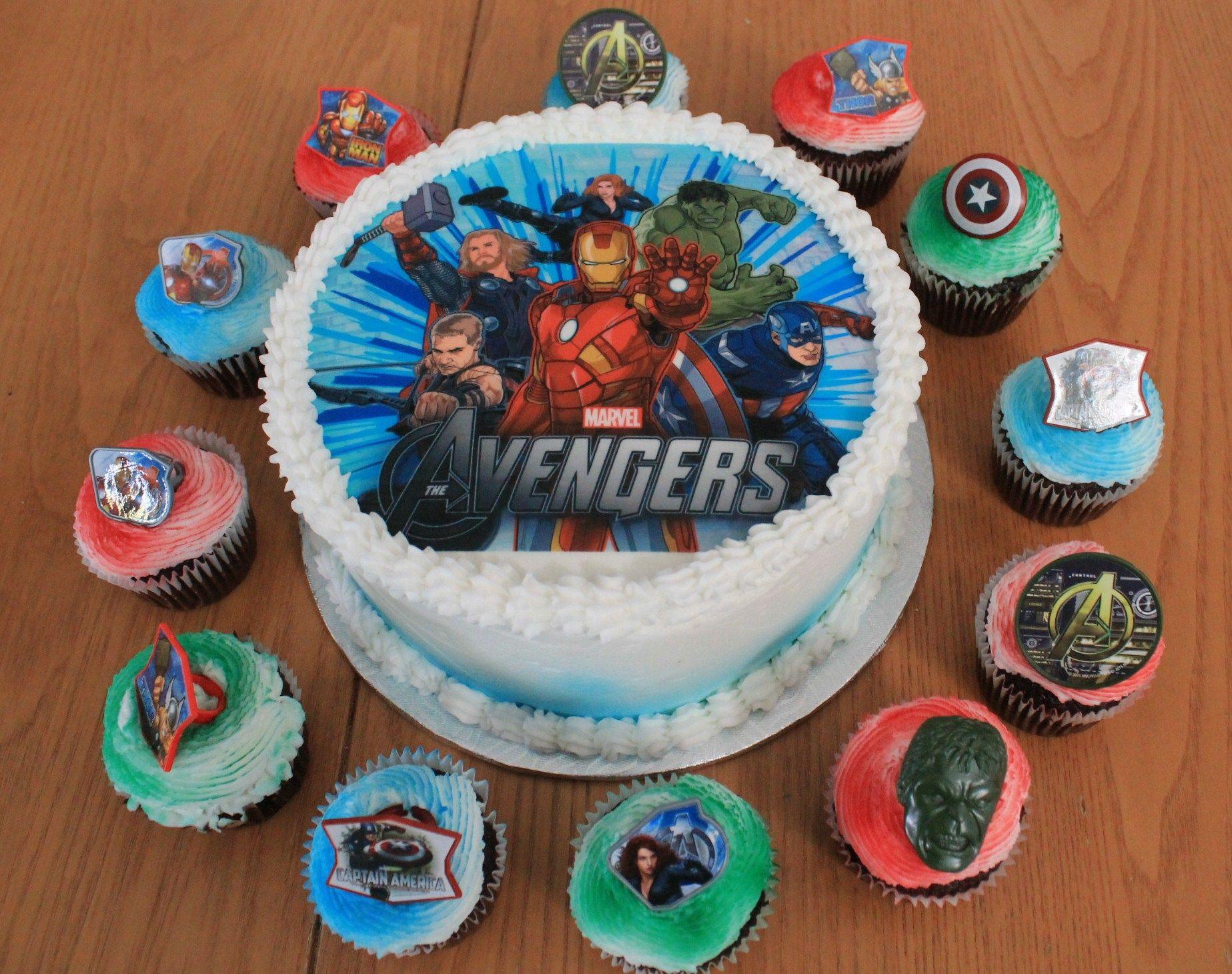 Gateau avengers avec cupcakes de cr ations vivi pinterest gateau avengers - Jeux de decoration de gateau ...
