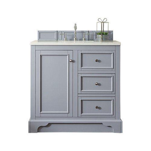 James Martin 37 25 De Soto Single Sink Vanity W Marble Top Silver Gray 825 V36 Sl 4glb In 2020 Single Sink Vanity Single Sink Bathroom Vanity Vanity Sink
