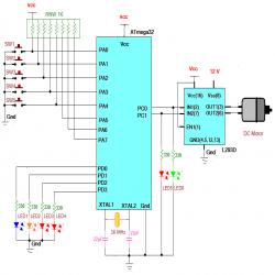 Control Speed and direction of a #dc motor using #AVR Atmega