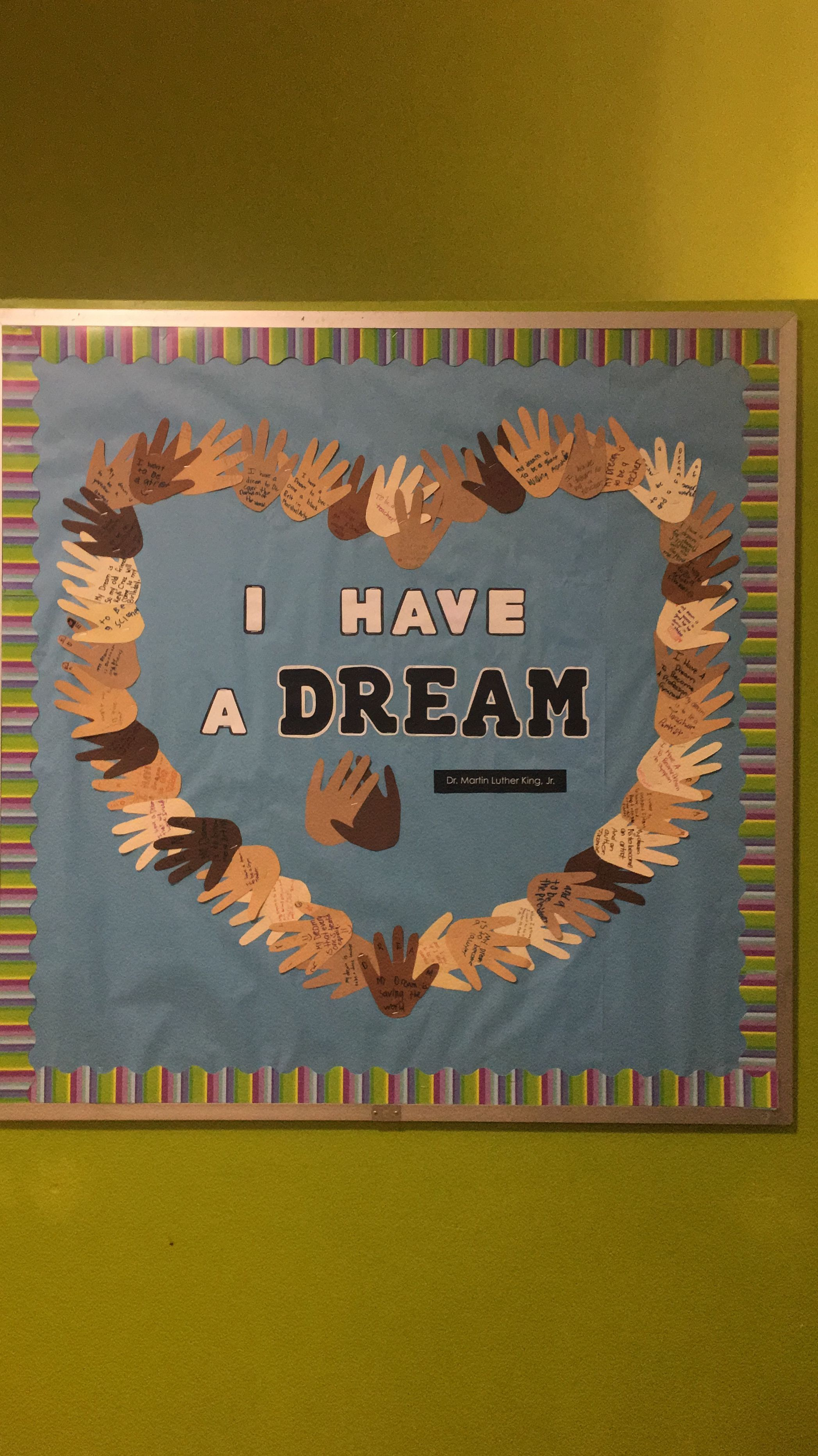 I have a Dream bulletin board school decoration, honoring ...