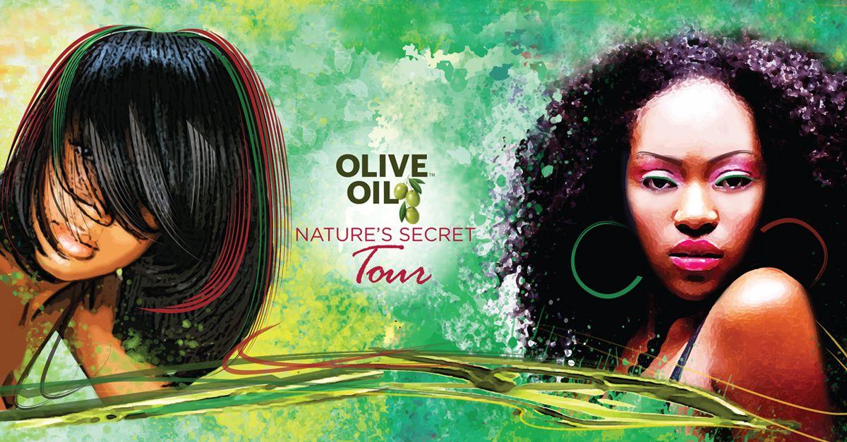 Olive Oil Hair Care Tour Bus Design Banner Promo Hair Care Olive Oil Olive Oil Hair Interactive Design