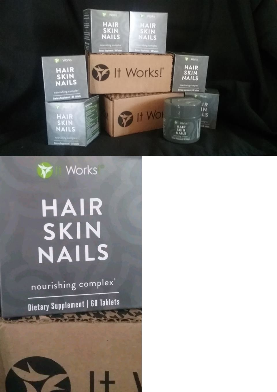 Health And Fitness: New Sealed It Works! Hair Skin Nails 60 Tablets ...