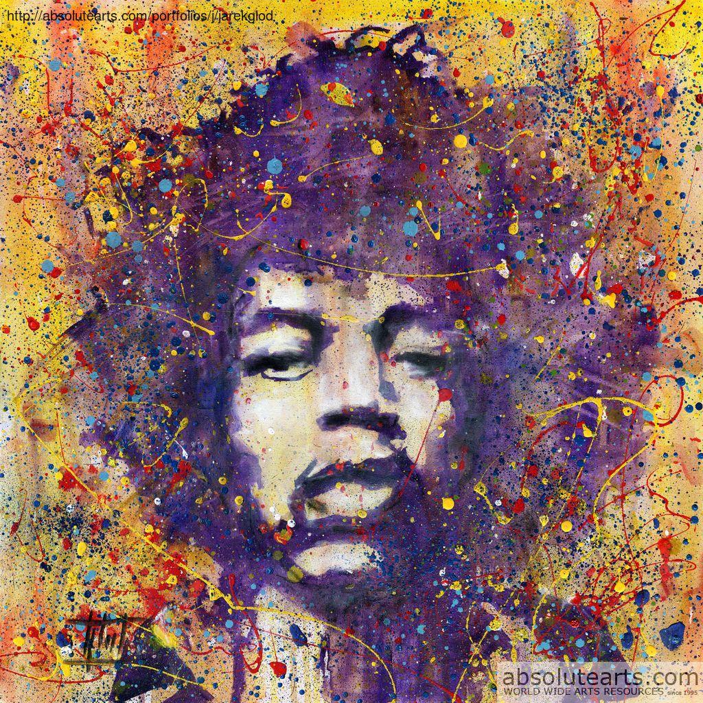 Jaroslaw Glod, Jimi Hendrix in 2020 Painting, Art