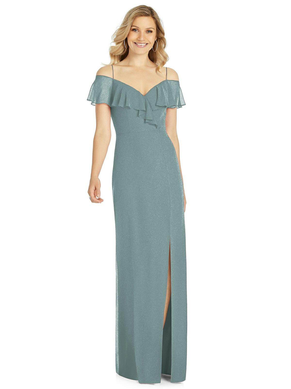 3391cd3b2e2 After Six Shimmer Bridesmaid Dress 6809LS in 2019