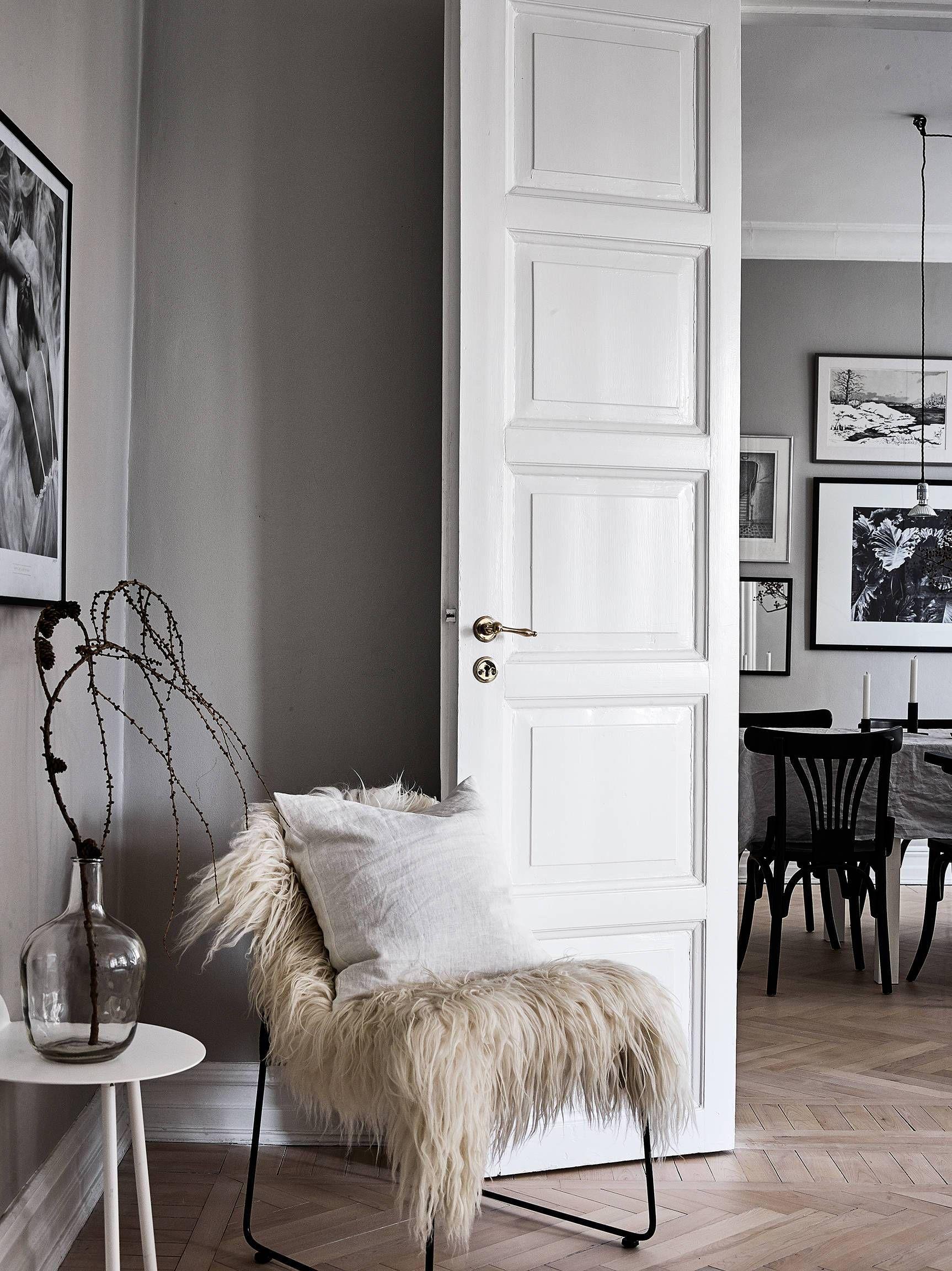 Paredes grises y carpinter a blanca industrial nooks - Decoracion paredes grises ...