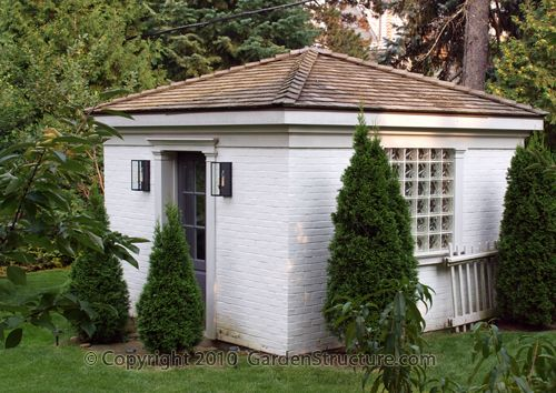 garden shed | You are here: Home > Gallery > Outdoor Rooms > Brick Garden Shed