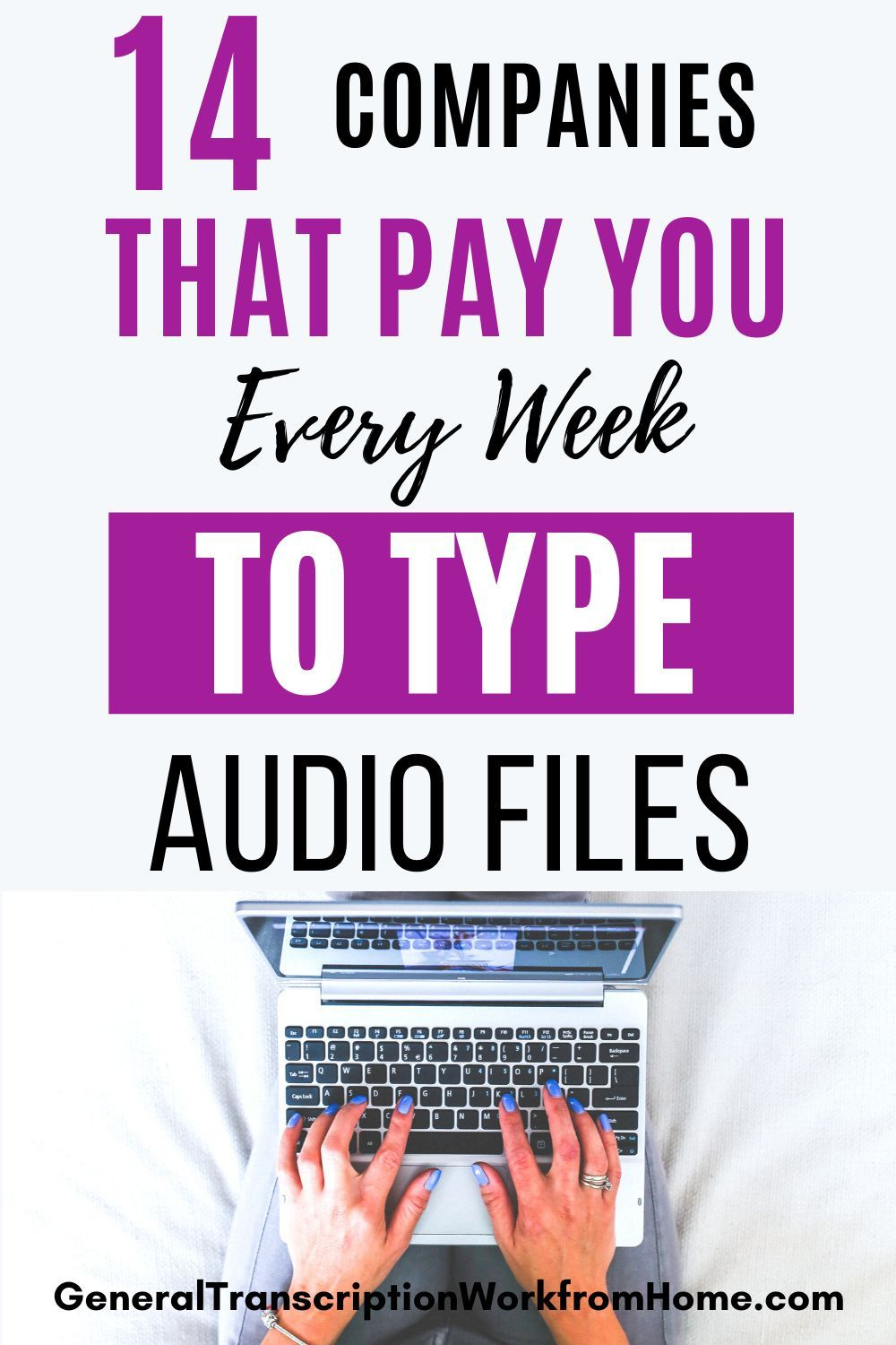 14 Work From Home Transcription Jobs That Pay Every Week Work From Home Jobs Online Jobs Side Hustles Transcription Jobs In 2020 Typing Jobs From Home Typing Jobs Transcription Jobs For Beginners