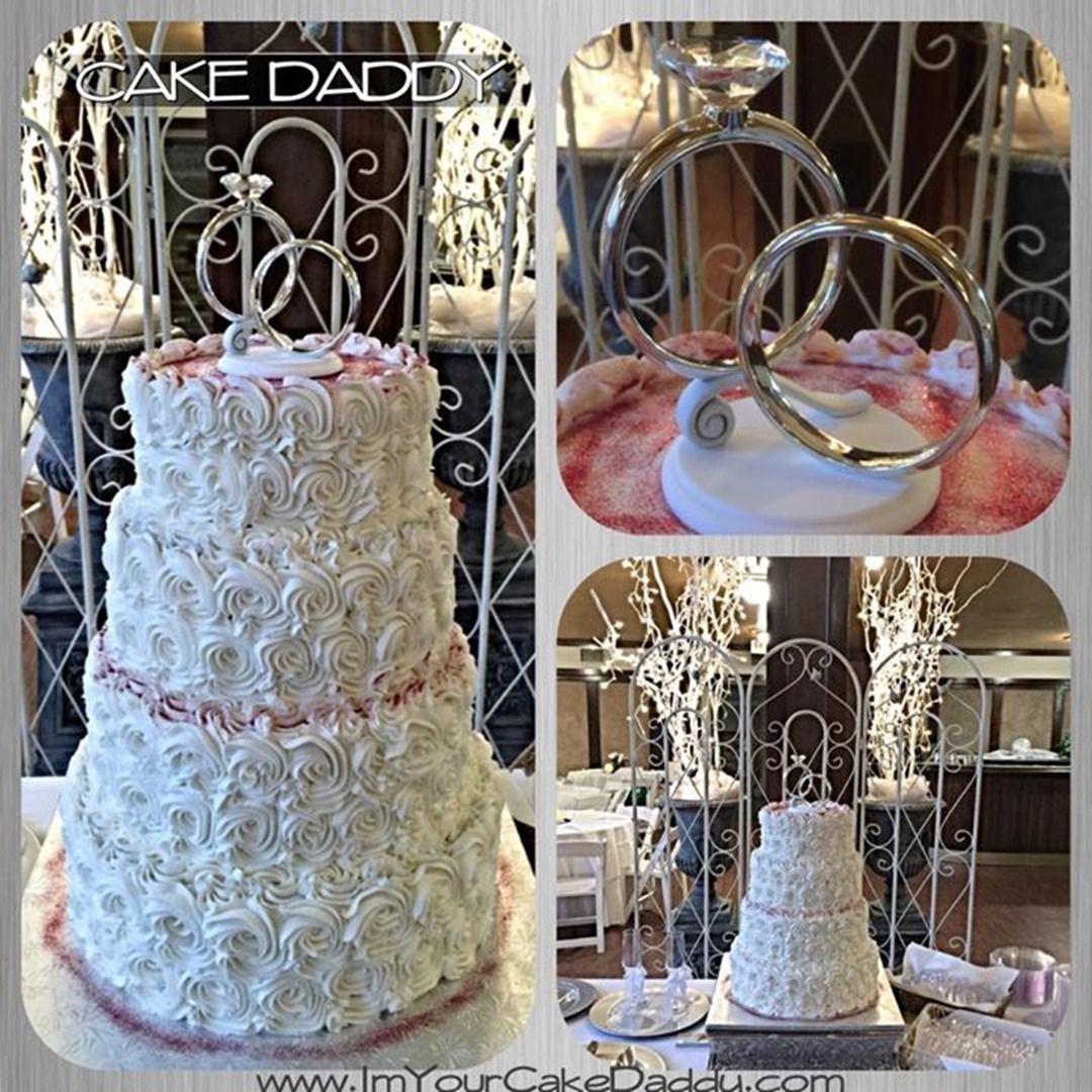 Designs by cake daddy in dallas tx rosette cake wedding