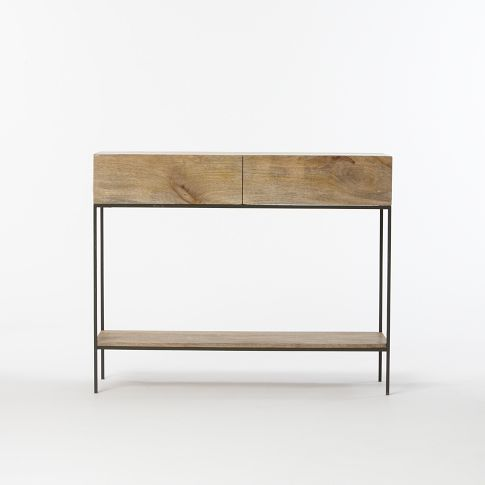 Industrial Storage Console Rustic Storage Reclaimed Wood Vanity Family Room Decorating