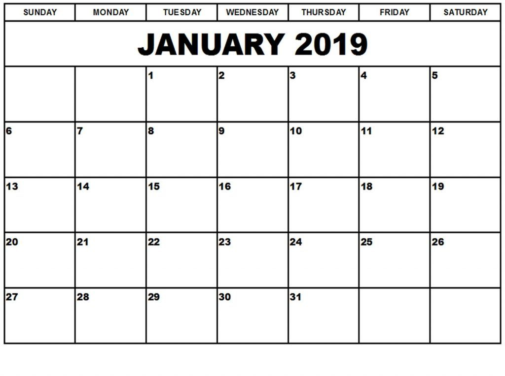 Monthly January 2019 Calendar Hd Printable Planner August