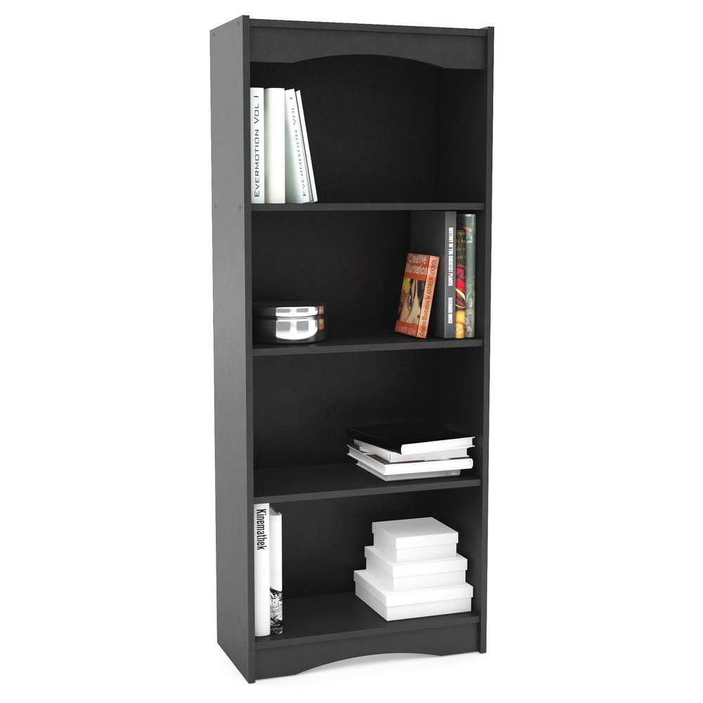 48 Hawthorn Tall Bookcase Midnight Black Corliving Bookcase
