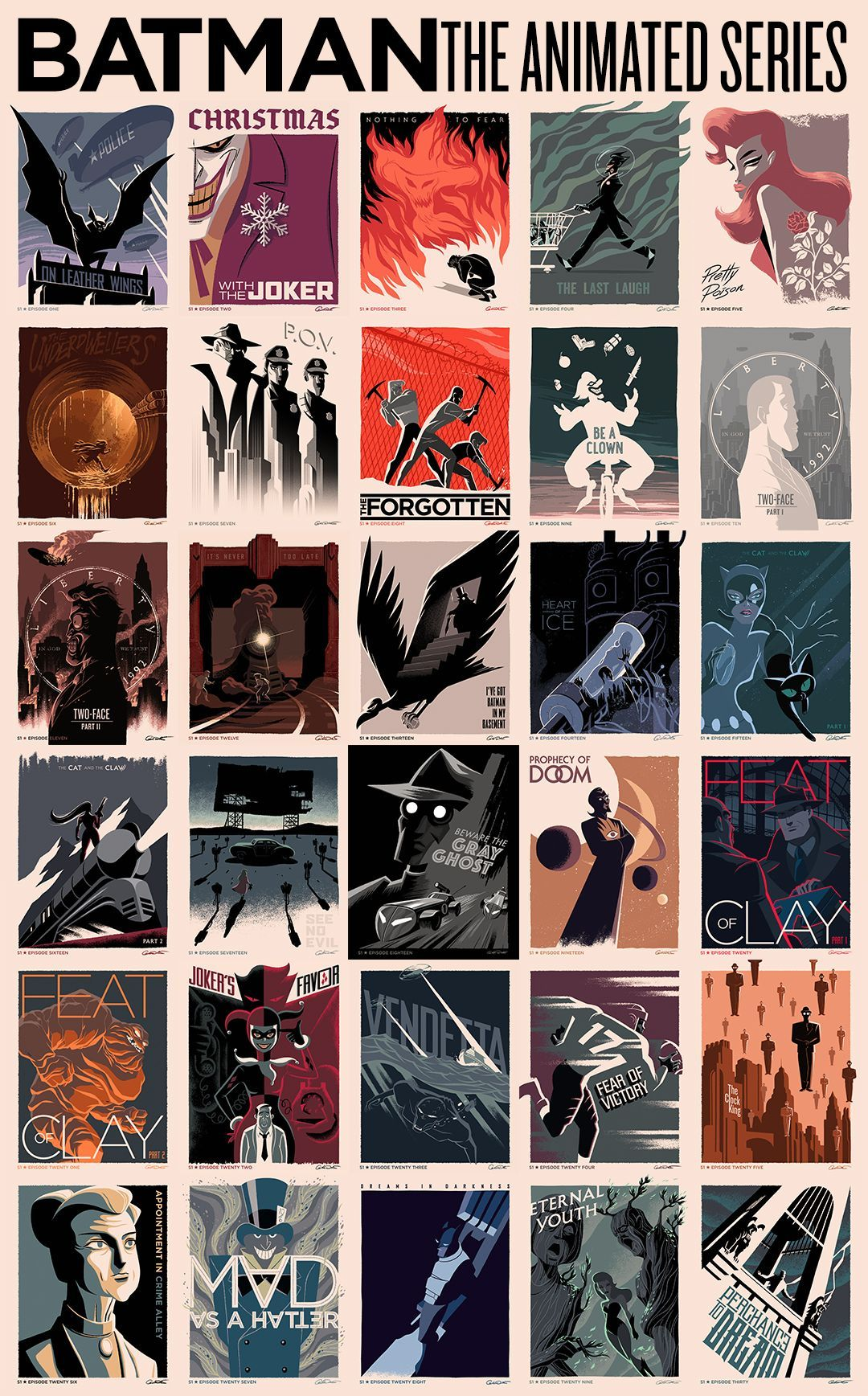 Batman The Animated Series Title Card Posters By George Caltsoudas