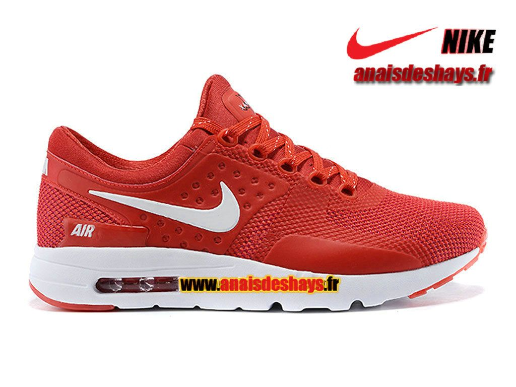superior quality 3095e 00217 Boutique Officiel Nike Air Max Zero (Taille Homme) RougeBlanc 789695-008iD