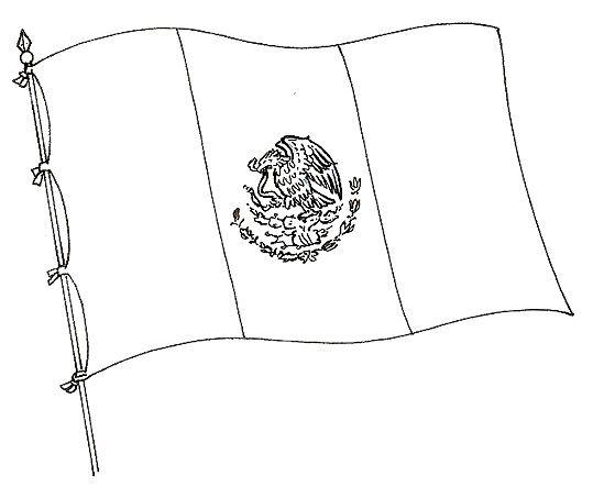 banderademexico  pintable  Pinterest  Bandera de mxico